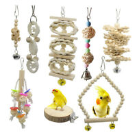 8pack/set  Bird Chewing Toys Parrot Cage Hanging Toy Cockatiel Conures