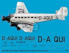 Peddinghaus 1/87 (HO) Ju 52/3m Markings D-AQUI / D-CDLH Lufthansa Trd Plane 3642