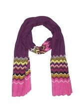Women Missoni for Target Chevron Purple Wool Blend Winter Scarf