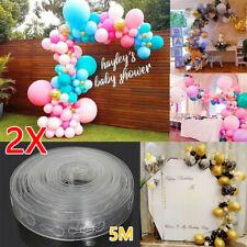 Birthday Party Balloon Strips Decoration Arch Garland Chain Connect 5M Supplies