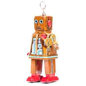 REPRODUCTION TINPLATE COLLECTIBLE SPACE ROBOT TOY
