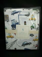 Pottery Barn Kids Organic Transportation Car Trucks Huxley Sheet Set Full #1523