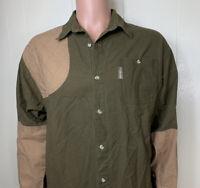 Columbia Sportswear Brown Shooting Padded Right Shoulder Hunting Shirt Mens L
