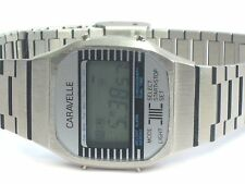Bulova Caravelle Quartz Alarm Chronograph LCD Digital  Vintage Wrist Watch