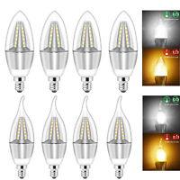 5W E12 LED Chandelier Light Bulb Filament Candelabra Bulb COB Candle Lamp 110V