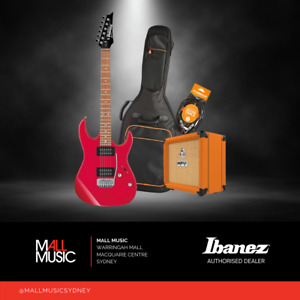 Ibanez RX22EX Electric Guitar Pack w/ Orange Crush Amp, Gig Bag + Lead RED