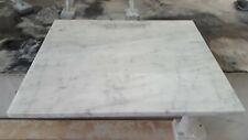 Tagliere in marmo bianco di Carrara,base per stendere la pizza  60x50