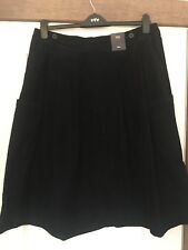 BNWT M&S COLLECTION BLACK FINE CORD FLARE MIDI  SKIRT 16