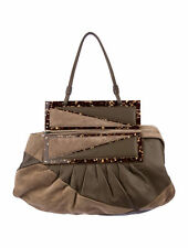 FENDI SUEDE/LEATHER 'TO YOU' CONVERTIBLE SHOULDER BAG CLUTCH TAUPE/BEIGE  $1,595