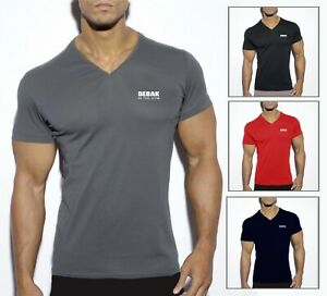 Mens V Neck Gym T-Shirt  Bodybuilding  | Gym Clothing Vest Workout Training MMA