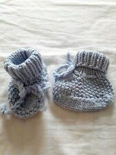 Motif Ours Dansant Chaussons bébé 0 à 3 Mois bleu