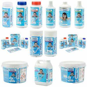 Clearwater Pool & Spa Chemicals, Chlorine, Starter Kits, Clarifier, Algacide