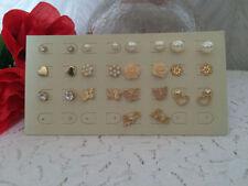Screw Back (pierced) Pearl Costume Earrings