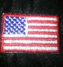 """Pack of 10 Embroidery sew on FLAG PATCHS w/ Red 2"""" x 3""""  with 36 stars"""