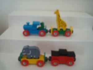 AUTHENIC BRIO #33415 CIRCUS TRAIN ANIMALS /CARS