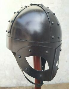 Super Viking Helmet Black Ant  Medieval Reproduction Helmet