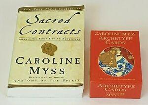 Caroline Myss Archetype Cards Guidebook Sacred Contracts Book Tarot Card