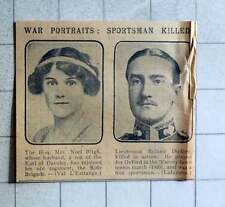 1915 Mrs Noel Bligh Husband Rejoins Rifle Brigade Lt Rowland Dudley