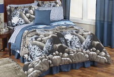 Snow Leopard Wild Cat Full Comforter Set (8 Piece Bed In A Bag)