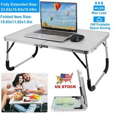 Foldable Laptop Table Bed Desk Breakfast Serving Bed Tray Portable Picnic Table
