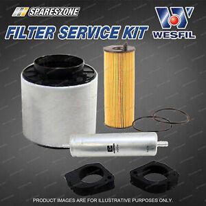 Wesfil Oil Air Fuel Filter Service Kit for Audi A4 B8 A5 8T 2.7L 3.0L V6 TDi