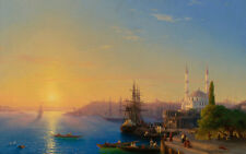 View of Constantinople by Ivan Aivazovsky 60cm x 37.6cm Art Paper Print