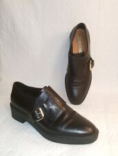 & Other Stories Shoes Women's Size 40 US 9.5 Black Leather Loafers Buckle