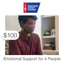 $100 Charitable Donation For: Help Four (4) People with Emotional Support