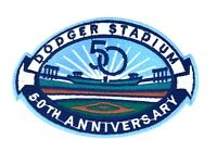 Los Angeles Dodgers Stadium 50th Anniversary Patch