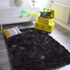 Tapis shaggy Gris foncé anthracite Pop à Poils longs - Salon séjour chambre