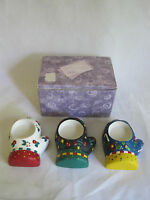 Mary Engelbreit Ceramic Mitten Tealight Candle Holders 2002 New Set of 3