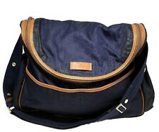 GUCCI NAVY FABRIC DIAPER BABY BAG, $2450