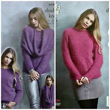 Knitting pattern onorevoli facile Knit Roll maglione collo Inc più taglie COPRICOLLO DK 4590