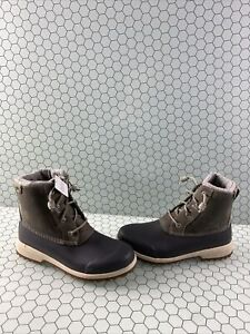 Sperry Top-Sider MARITIME REPEL Gray Leather/Rubber Rain Boots Women's Size 7.5M