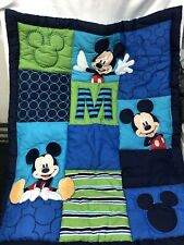 So Cute Disney Mickey Mouse M Is For Mickey Baby Crib Bedding