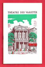"Liliane Montevecchi ""LA GROSSE VALISE"" Robert Dhery 1963 Paris, France Program"