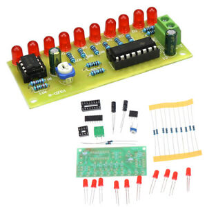 LED Chaser Flowing Water Light NE555 Module + CD4017 PCB Board DIY  W4EXATSVW^m^