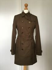 BURBERRY BRIT Crombrook Trench Coat Khaki Green Size 10 UK NEW WITH TAGS