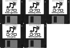 Roland D-70 / D70 - 5 bank synth patch set - sent to you via email