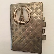 Aide Memoire Notebook Tour Eiffel Paris Metallic Written Notes Purse Accessory
