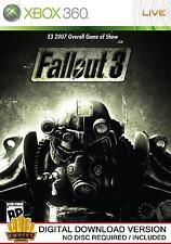 Fallout 3 Xbox 360 (Xbox Live Download Key)