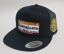 PLACAS DE GUANAJUATO HAT MESH TRUCKER  BLACK   SNAP BACK ADJUSTABLE  NEW