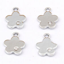 10pc Crystal Flower Pendant Charm Beads Accessories Fashion Jewelry Making 1113#