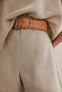 Country Road Whipstitch Leather Belt [S] NWT $100