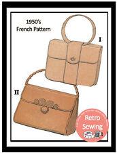 1950s Handbag French Sewing Pattern