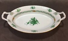 Herend Green CHINESE BOUQUET Bread Tray
