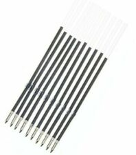 3 x Black Ballpoint Pen Ink Refill 10.7cm Replacement Inks Retractable Pens
