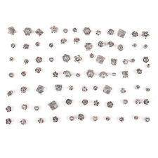 80 Pcs Lot Mixed Tibet Silver Flower Spacer Beads For Bracelet Jewelry DIY aa
