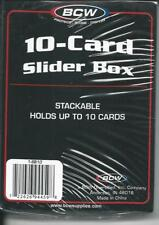 10-Card Slider Trading/Gaming Card Box - BCW - Lot of 6 Boxes - Factory Sealed