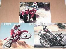 1983 ATC All Model,The Dirt,The Street - 3 Honda Brochures - Literature